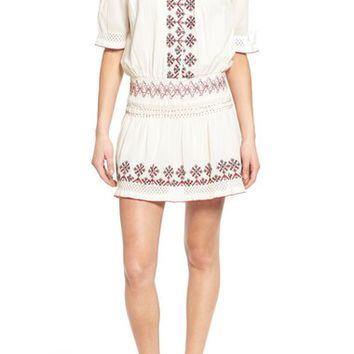 Tularosa 'Marietta' Embroidered Off the Shoulder Dress | Nordstrom