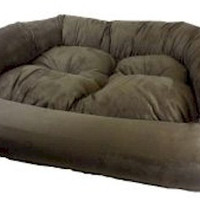 Overstuffed Luxury Pet Sofa - Small/Olive