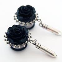 Glamsquared — Silver Bullet Steel Dangle Plugs