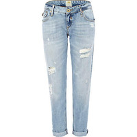 Light wash Cassie distressed boyfriend jeans
