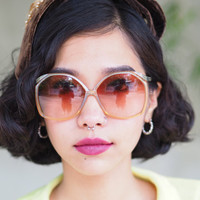 Vintage Christian Dior Sunglasses Oversized Honey Color With interior Sparkel Made in Germany 1970's