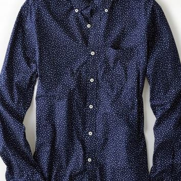 AEO Men's Printed Button Down Shirt from American Eagle | for him