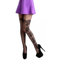 Daisy Lace Floral [Black]   TIGHTS