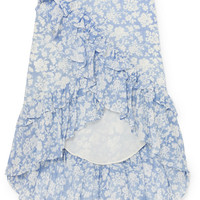 LoveShackFancy - Liza ruffled floral-print cotton and silk-blend voile skirt