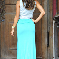 RESTOCK: Summer Breeze Maxi Skirt:Teal | Hope's