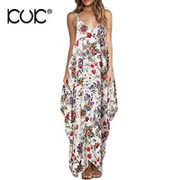 Kuk 6Color Maxi Dress Summer Long Boho Dress Hippie Chic Clothing Beach Tunic 3XL Plus Size Vestido Longo Beach Tunic Femme A720