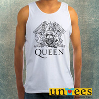 Queen Logo Clothing Tank Top For Mens