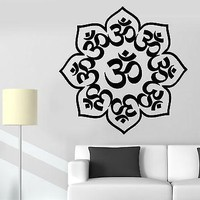 Wall Sticker Lotus Mandala Om Chakra Zen Meditation Vinyl Decal Unique Gift (z2928)