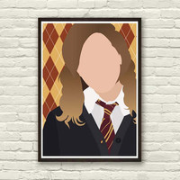 HERMIONE GRANGER Minimal Movie Print 8x11in, Print Art Original