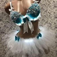 Led Costume, Exotic Dance Wear, Led Dress, Rave Costume, Festival Clothing