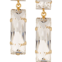 Kenneth Jay Lane - Gold-plated crystal earrings