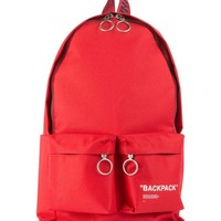 """Solid Red """"BACKPACK"""" by OFF-WHITE"""