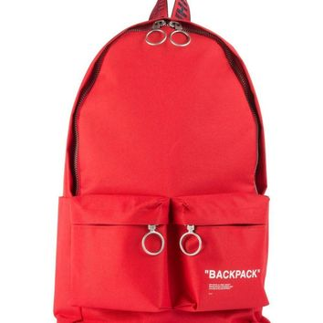 "Solid Red ""BACKPACK"" by OFF-WHITE"