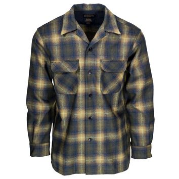 Board Shirt Olive/Blue Ombre