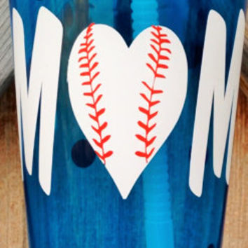Baseball Mom Tumbler, Baseball Accessories, Baseball Mom Gift