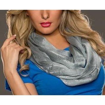 WOMAN SCARF LIGOT GREY