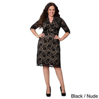 Kiyonna Clothing Women's Plus Size Scalloped Boudoir Lace Dress | Overstock.com Shopping - The Best Deals on Dresses