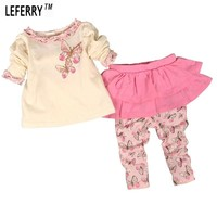 Baby Girls Clothing Set Cotton Divided Skirts Girls Suit tumn