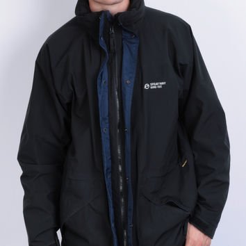 Sprayway Mens L Jacket Gore-Tex Hood Full Zipper Pockets