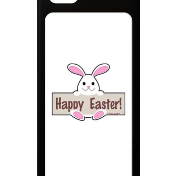 Cute Bunny - Happy Easter iPhone 5 / 5S Grip Case  by TooLoud