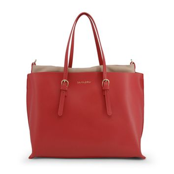 "Women's Fire Engine Red ""Blu Byblos EASY"" Shopping Tote Bag"