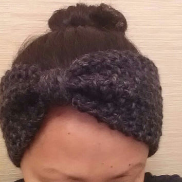 Simple Chunky Hand Knit Turban Headband / Ear Warmer. Choose from a Variety of Colors