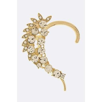 Daysprings Glow Gold with Crystals Ear Cuff