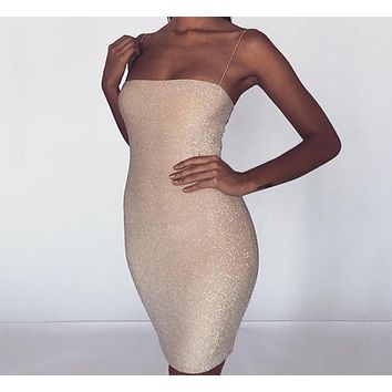 Karlie Ann Shimmer Creme Dress