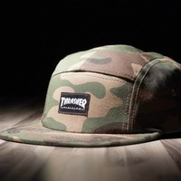 Thrasher Magazine Shop - Thrasher 5 Panel Hat (Camo)