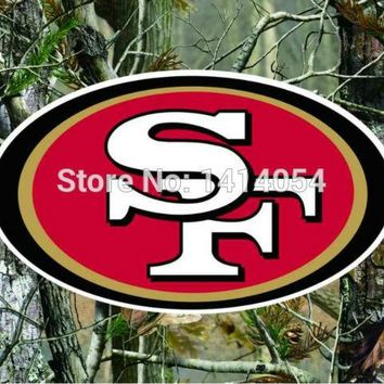 San Francisco 49ers real tree camo  Flag 150X90CM Banner 100D Polyester3x5 FT flag brass grommets 001, free shipping