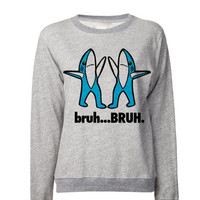 Left SHARK bruh Sweatshirt | Left Shark Bruh Sweater | Right Shark Dancing Shark IDGAF |   Superbowl Performance