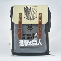 Hight Quality Printing Cartoon attack on titan School Bag For Teenagers cosplay Bags Men's Investigation Corps Backpack