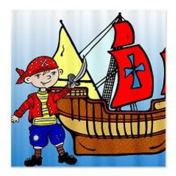 Kids Pirate Design Shower Curtain> Shower Curtains> We Tees You