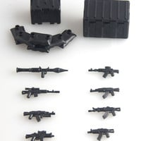 2016 new Military Series Custom swat police AK GUN weapons pack army weapon Brick Arms Weapon Pack For City Police