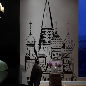 Vinyl Wall Decal Sticker St Basil Cathedral Red Square #218