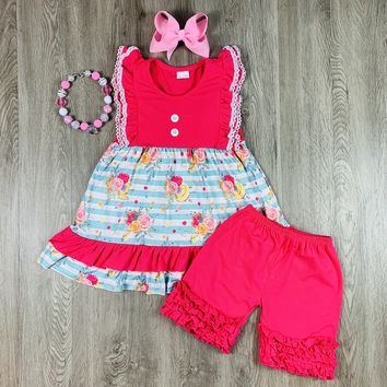 RTS Hot Pink Summer Floral D87