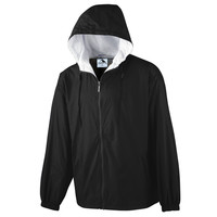 Augusta 3278 Youth Hooded Taffeta Jacket/Flannel Lined - Black