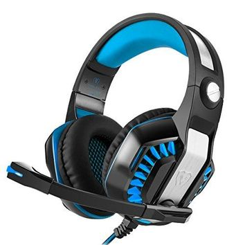 Gaming Headset Beexcellent 2017 Wired Stereo Subwoofer LED Light Bass Over-ear Professional Headphones with 3.5mm Microphone Inflected Revolution Noise Isolating for Laptop Tablet mobile phone and PS4