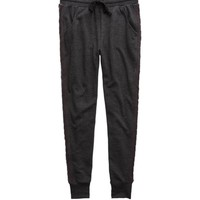 Aerie Cable Knit Skinny Jogger, Charcoal Heather Grey | Aerie for American Eagle
