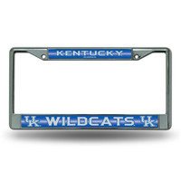 Kentucky Wildcats NCAA Bling Glitter Chrome License Plate Frame