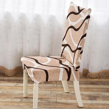 Anti-dust Stretchy Chair Cover Removable Slipcovers Elastic Party Banquet Seat Cases Home Dining Room Chair Seat Cover Protector