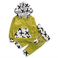 Autumn Winter Baby Clothing Newborn Baby Boys Hooded Tops T Shirt +Pants Leggings 2Pcs Outfits Set ChildrenClothes