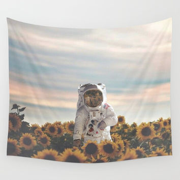 The Sunflower Galaxy, Messier 63 Wall Tapestry by acshaynair