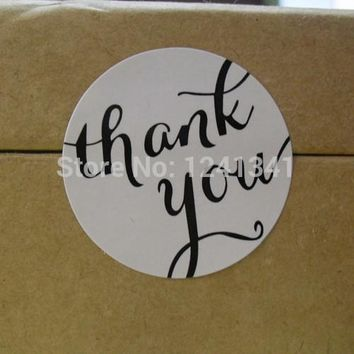 """THANK YOU"" The Handicaft Art Stickers clip in a scrapbook or on cards and For gift / bread packaging box/bags seal stickers"