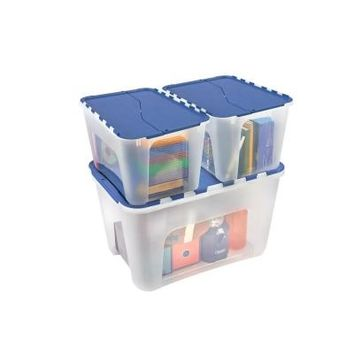 HDX 12 Gal. Flip Top Storage Tote-217227 - The Home Depot
