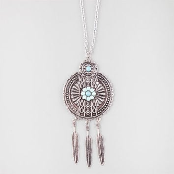 Full Tilt Turquoise Pendant Necklace Turquoise One Size For Women 26177724101