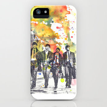 The Beatles Painting iPhone Case by Idillard
