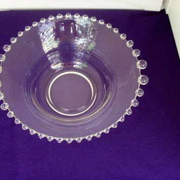 Candlewick Glass Serving Bowl Vintage by 4oldtimesandnew on Etsy