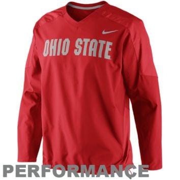 Nike Ohio State Buckeyes Fourth Down Performance Pullover Wind Jacket - Scarlet