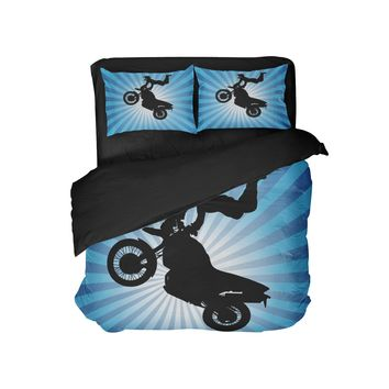 "Kids Motocross Comforter ""Superman"" from Extremely Stoked Motocross Bedding Collection"
